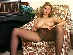 Killer Blonde Burns A Fuckhole In Stockings