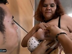 Old and fat bbw mature latina luving eating