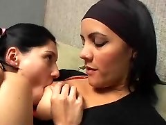 Deep Kissing inbetween mature and young lesbians