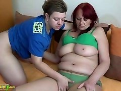 OldNanny Girl-girl granny and nubile with huge di