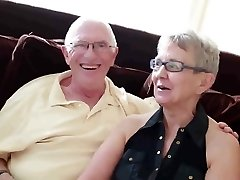 Elderly husband fucked with college chick fellow