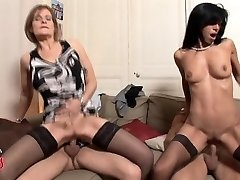 French COUGAR swingers four way