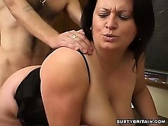 BBW Angel Pulverized In Classroom