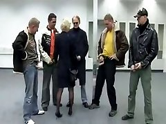 German mature group-fucked in all crevices