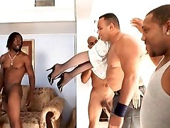 Nina Hartley Gang-fucked by Black Gang