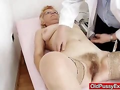 Furry cunt gramma needs a pussy examination