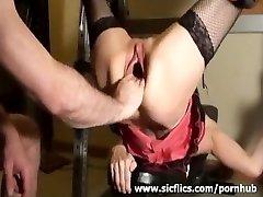 Brutally handballing Rachels gaping pussy
