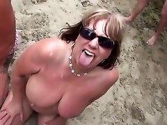 Nudistična Plaža - Zori Bukake Stranka