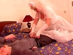 The young groom bang his mature grown bride!