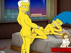 Sarjakuva Porno Simpsons Porno äiti Marge on