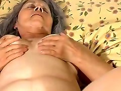 Old granny fuck with pregnant lezzie mouth-watering girl