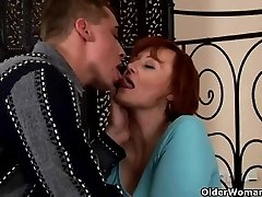 Sexually Excited grannie acquires fisted and tit banged