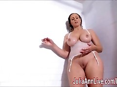 Wondrous  Milf Julia Ann Lathers Her Yam-sized Tits in Shower!