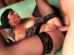 Sexy mature in stockings ravages really good (TOP MATURE)