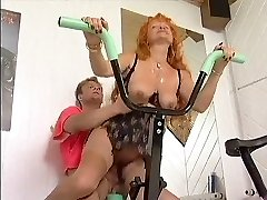 Redhead mature Exercise Enjoy