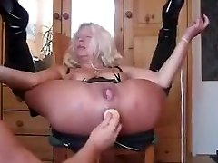 Granny Spills Like Crazy from Anal Invasion