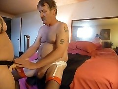 fucking my mans ass with my woman man cock belt dick  part 1