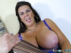 EuropeMaturE Busty Grandma Lulu Solo Getting Off