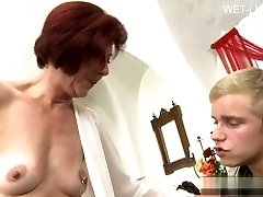Huge-boobed girlfriend tittyfuck