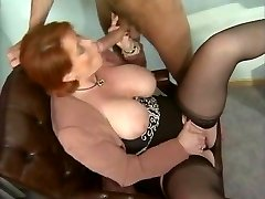 Kira Crimson - German Mature porked in the Office