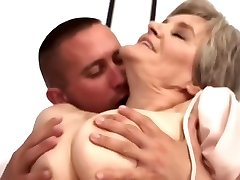 Aged Mom Loves Young Boy...F70