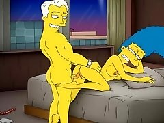 Cartoon Porn Simpsons Porno mamma Marge har