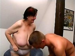 young guy fucks 70 yo gross fat grannie oma