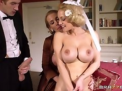 Young rich boy had hard three way with two huge-titted mommies