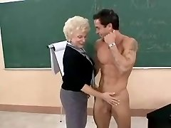 Hot Grandmother Cougar Teacher Banging In Class