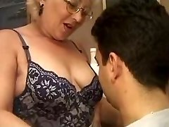 Mature Italian educator with student