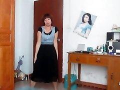 chiński stara tańczy