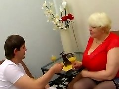 BBW Mature Blondinka