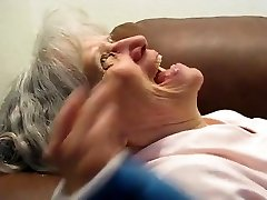 Grannie Deep Throats Him Dry