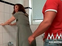 MMV Films Red-haired German Mature luvs cock