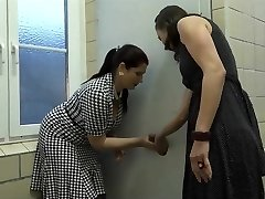 Two Mature Found a Crevice In Public Toilette