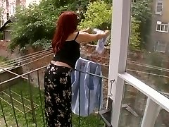 Wonderful Mature Wife Attacked While Hanging Laundry - Cireman