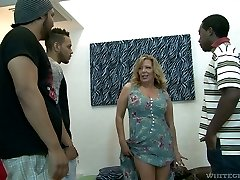 Raunchy mature breezy Karen Summer gets group-fucked like never before
