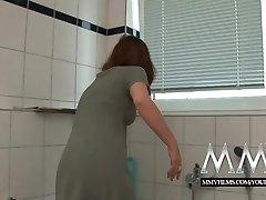 MMV Filmų Sexy vokiečių, namų šeimininkė, myli didelis gaidys