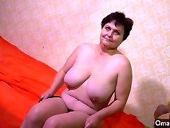 OmaHotel Didelis amžiaus moteris ir močiutė su big boobs