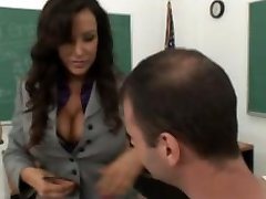Busty mature teacher Lisa Ann