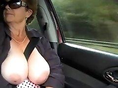 Granny nude outdoor