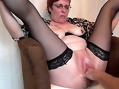 Mature splooging fisting orgasms