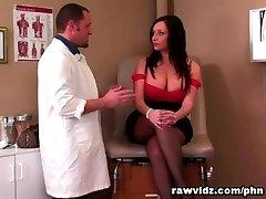 Vannah Sterling Sensuous Brunette Rails Doc's Cock