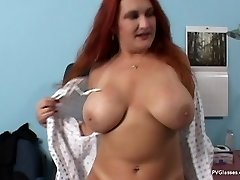 Mature Redhead with Huge Bra-stuffers gets Scammed by Medic
