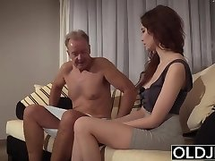 Old Young Porn Natural Teen Takes Grandpa dinky In her pussy