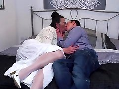 Hairy mature mom suck and tear up lucky son