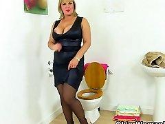 British milf Danielle gets revved on in shower