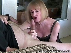 First-timer GILF Plays With Granny Pussy