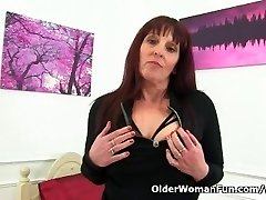 British milf Boyfriend gets ultra-kinky in crotchless tights