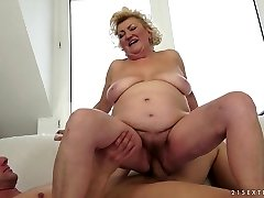 Exotic sex industry star in Incredible Blonde, Mature adult scene